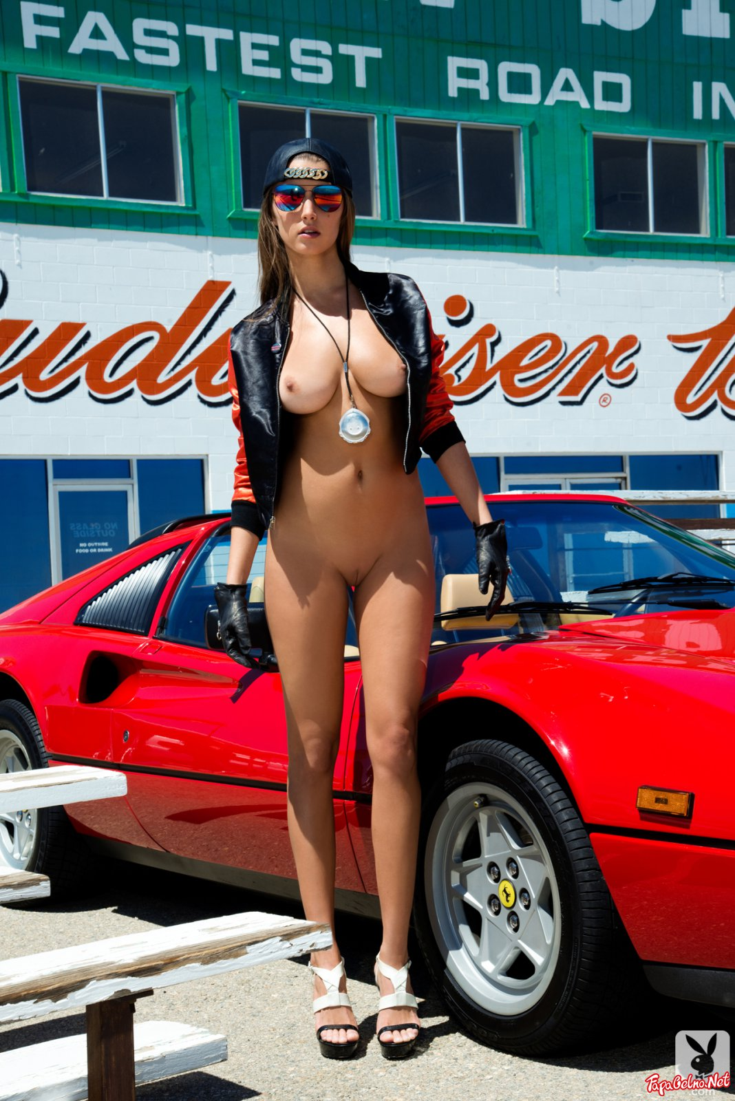Race Car And Nude Model