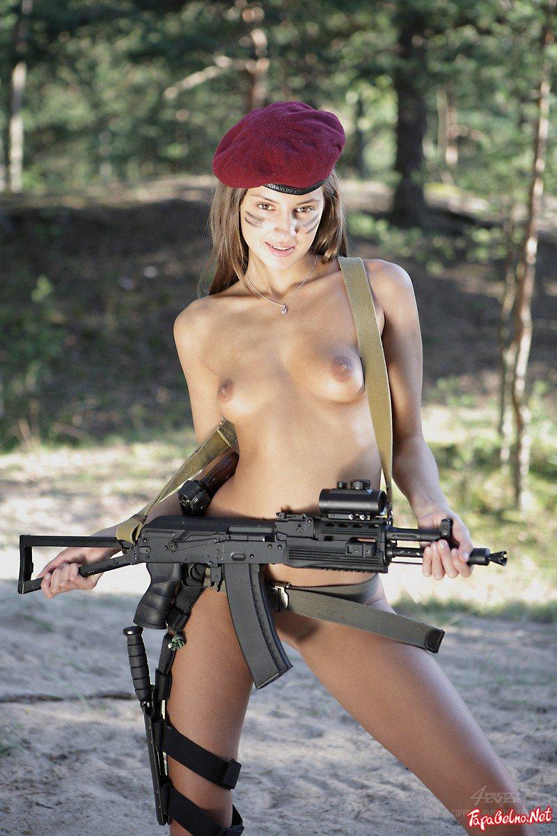 Hot Naked Girls Shooting Guns Nude